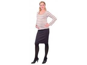 Těhotenské tričko Rialto Ruten pruhované 0276 (Dámská velikost 38)