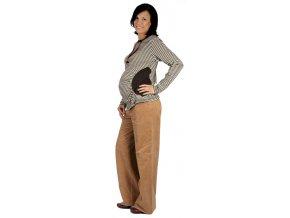 Těhotenské manžestrové kalhoty Rialto Stornoway béžové 19131 (Dámská velikost 36)