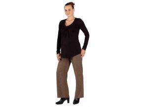 Těhotenské kalhoty Rialto Bragar hnědé 2014 (Dámská velikost 38)