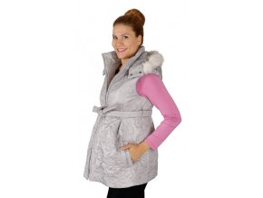 Těhotenská vesta Rialto Echt šedý Prošev 0368