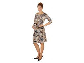 Těhotenské šaty Rialto Loon modrý vzor 0356 (Dámská velikost 36)