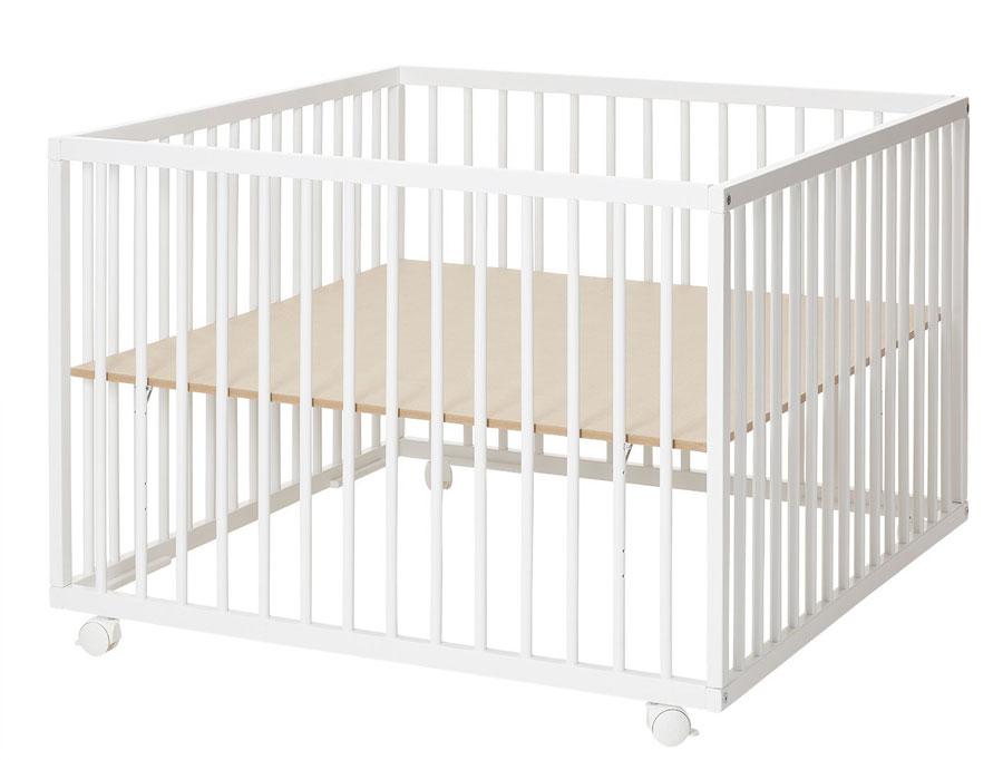 Baby Dan dřevěná ohrádka Comfort Large White, 99x99x73cm