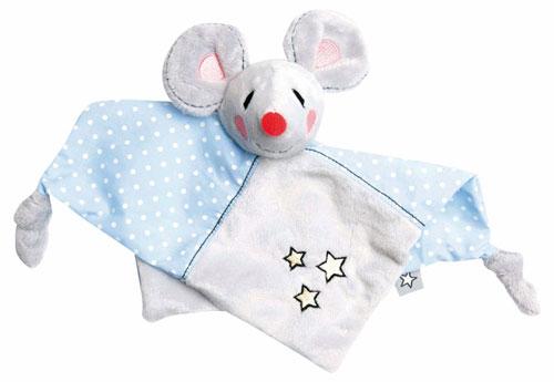 Bebe-Jou Plyšový mazlící ubrousek Bébé-Jou myška Little Mice