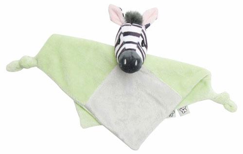Bebe-Jou Plyšový mazlící ubrousek Bébé-Jou Dinky Zebra