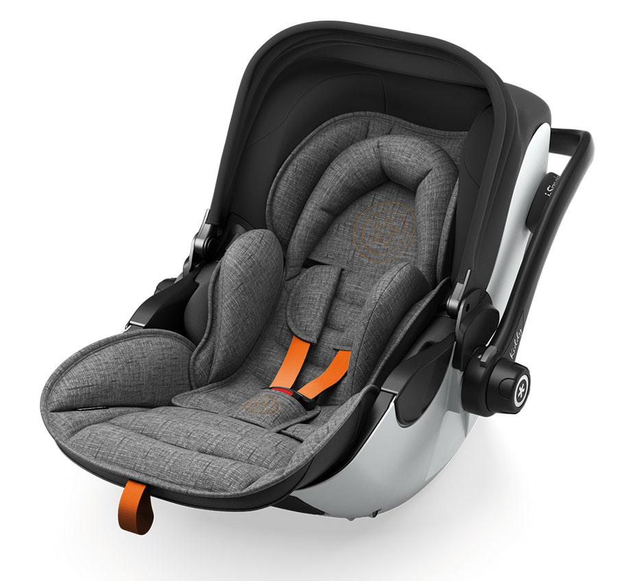 KIDDY Evoluna i-Size 2 Grey Melange  2021 safe orange