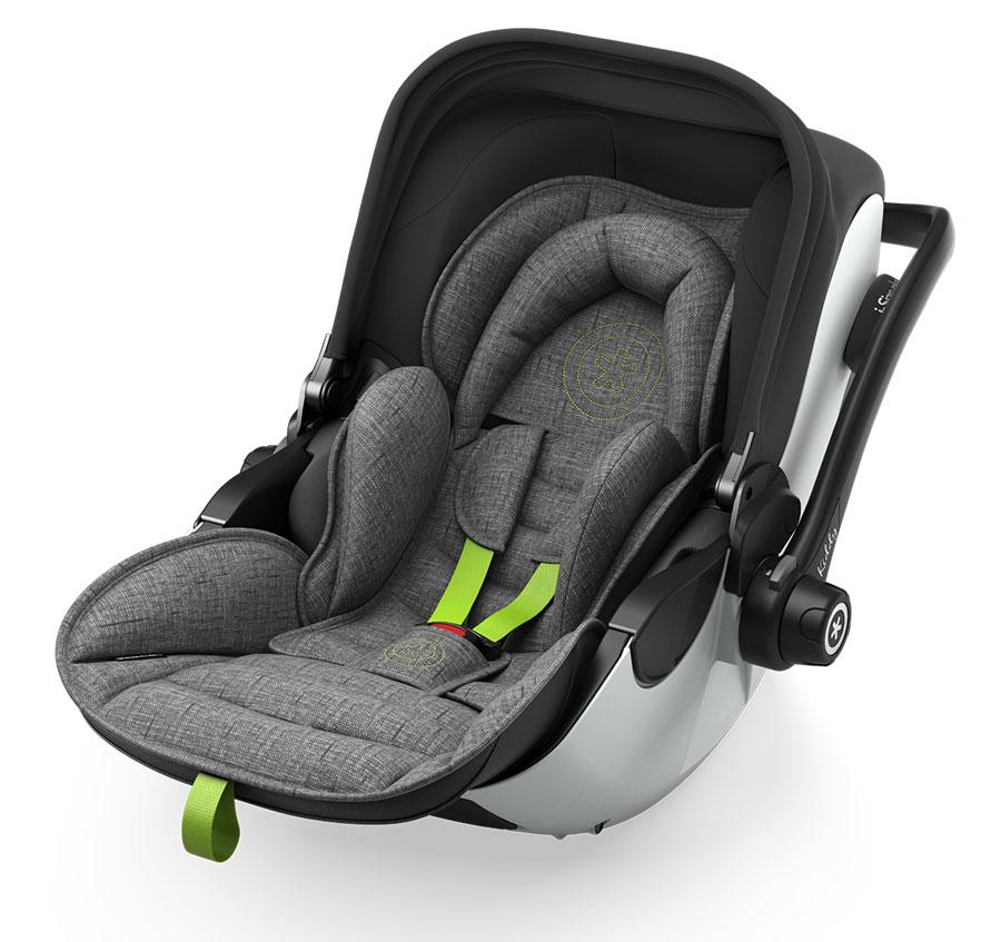 KIDDY Evoluna i-Size 2 Grey Melange  2021 super Green