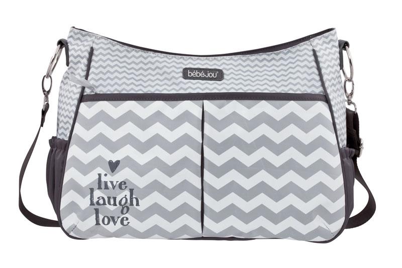 Bebe-Jou Luxusní přebalovací taška Bébé-Jou Chevron Grey
