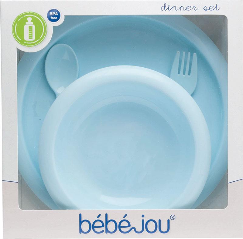 Bebe-Jou Jídelní souprava Bébé-Jou Dinky World modrá