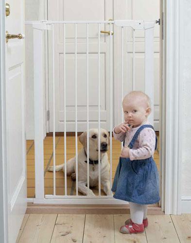 Baby Dan Vysoká zábrana Babydan Premier PET GATE 73-80 cm bílá