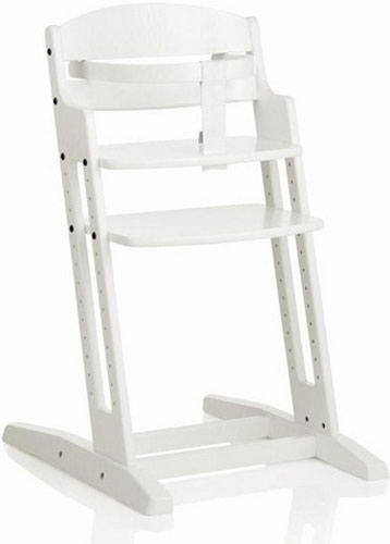 Baby Dan A/S Dřevěná jídelní židlička BabyDan DanChair WHITE