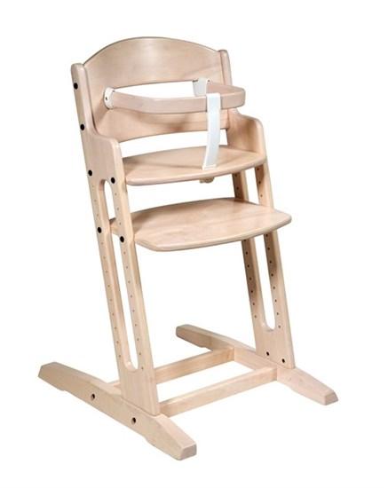 Dřevěná jídelní židlička BabyDan DanChair White Wash