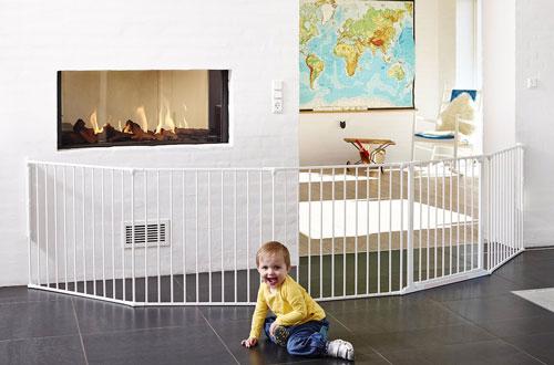 Baby Dan Prostorová zábrana Flex XXL bílá 90-350 cm