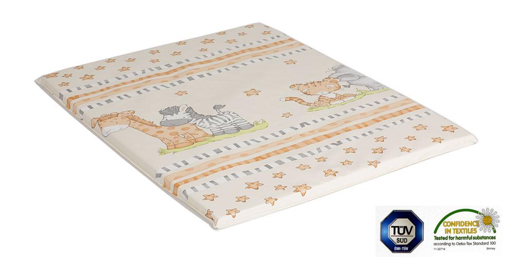 Ladotex Kft. Plochá přebalovací podožka 50x70 Vzor: 07 žirafa