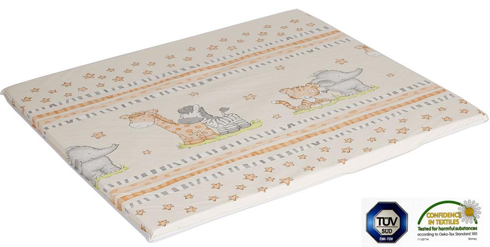 Ladotex Kft. Plochá přebalovací podožka 75x85 Vzor: 07 žirafa