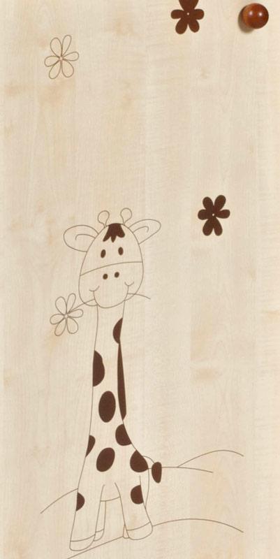Nástavec kombinované skříně Faktum Makao Vzor: žirafa