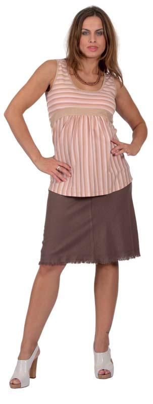 Těhotenská sukně RIALTO SANEM sv. hnědá 01246 Dámská velikost: 36