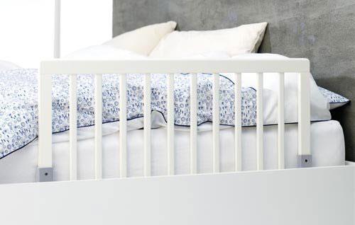 Baby Dan Zábrana k posteli dřevěná White 45x90cm