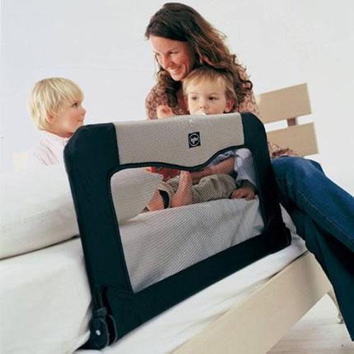Baby Dan Cestovní zábrana k posteli+taška, Black 90 cm