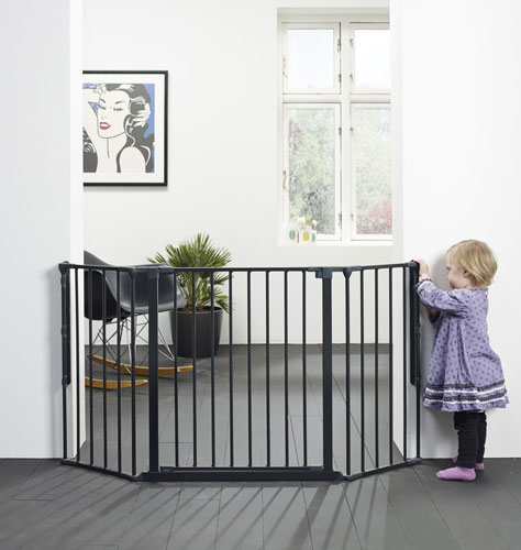 Baby Dan Prostorová zábrana Flex M černá 90-140 cm