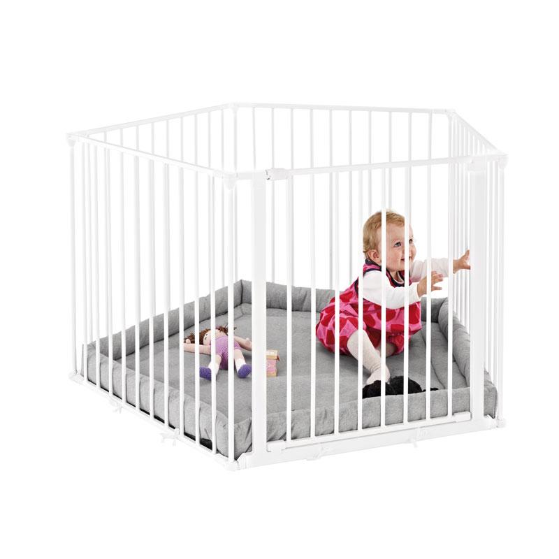 Baby Dan Ohrádka Park a Kid bílá s matrací
