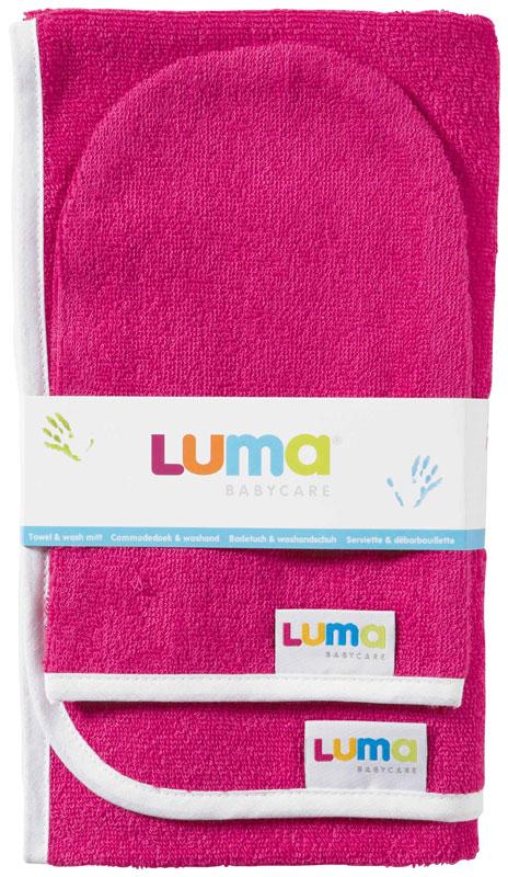 Bebe-Jou Dětský froté ručník a žíňka LUMA - magneta pink