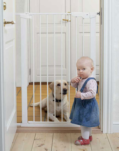 Baby Dan Vysoká zábrana Babydan Premier PET GATE 73-86 cm bílá