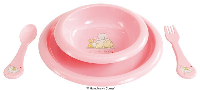 Bebe-Jou Jídelní souprava Bébé-Jou Humphreys růžová