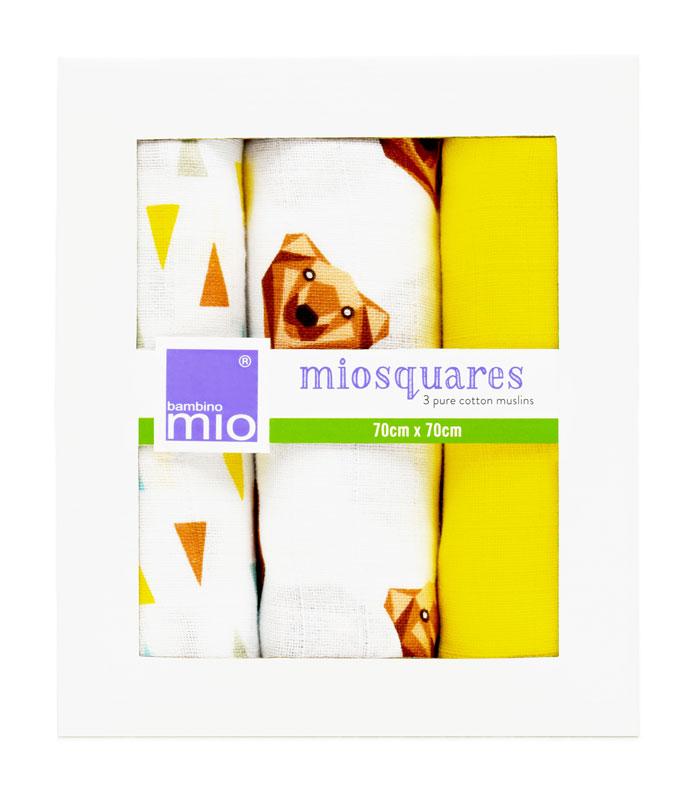 Bambino Mio mušelínové plenky 3ks Grizzly