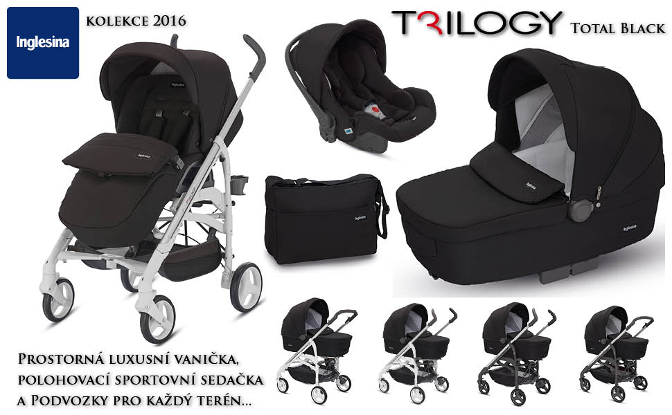 Inglesina Trilogy systém 3+1Total Black