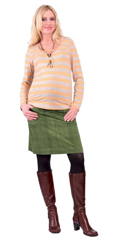 Těhotenské tričko Rialto Reves žluto-šedé pruhy 0277