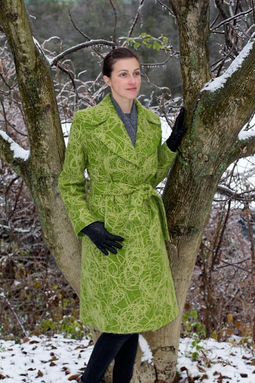 Dámský kabát Bomb - zelený 0142