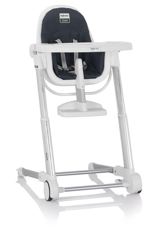Inglesina ZUMA white/graphite jídelní židlička v ekokůži