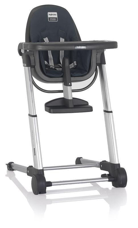 Inglesina ZUMA grey/graphite jídelní židlička v ekokůži