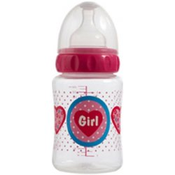 Široká lahvička Bébé-Jou Girl 250 ml