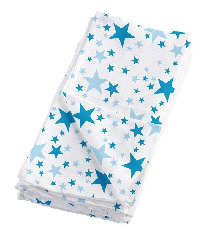 Bambino Mio Mušelínové plenky 4ks Blue Stars