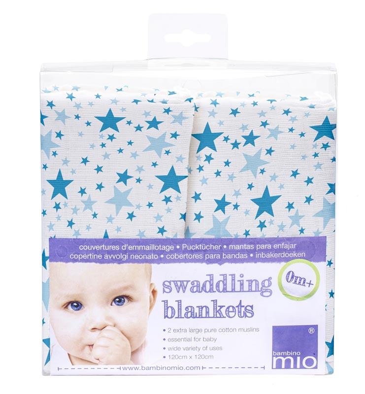 Bambino Mio Zavinovací univerzální plena 2ks Blue Stars