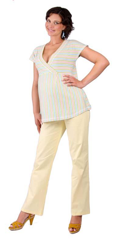 Těhotenské tričko Rialto Doncols zelené pruhy 0266