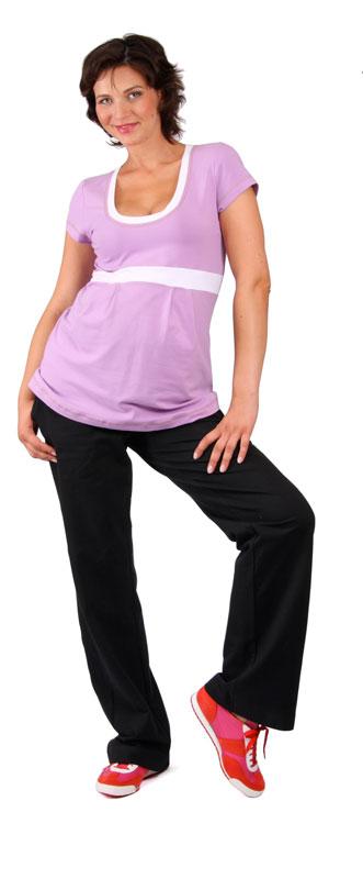 Těhotenské tepláky Rialto Lilly černé 0208