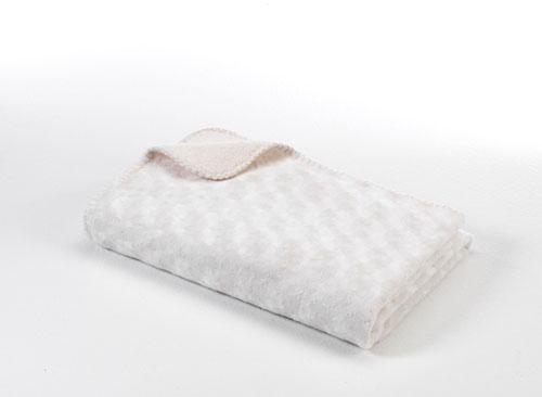 Baby Dan Dětská deka double fleece oboustranná 75x100 off white