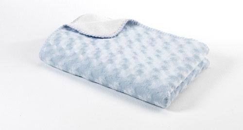 Baby Dan Dětská deka double fleece oboustranná 75x100 light blue