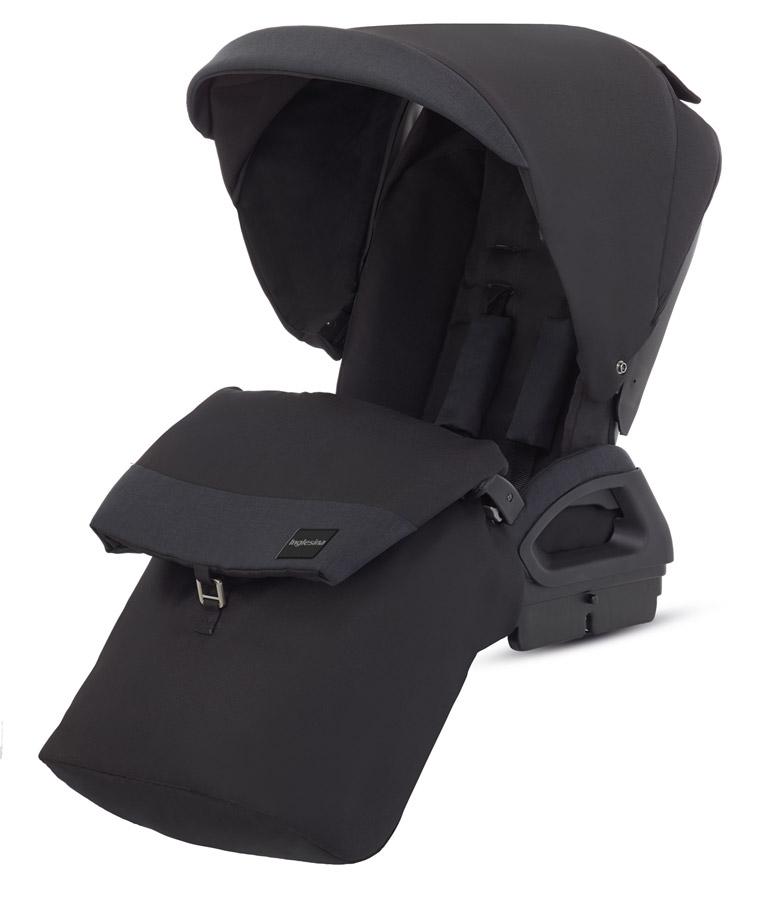 Sportovní sedačka Inglesina Quad, Total Black, stříška, nánožník, pláštěnka