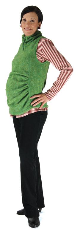 Těhotenská vesta Rialto Tarbert zelená 0146