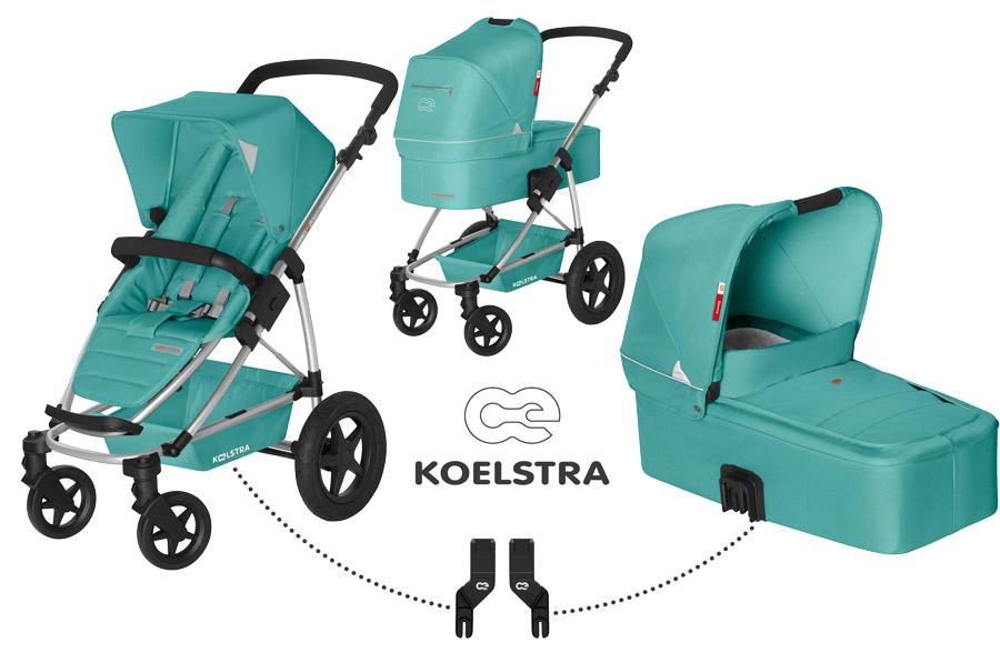 Kombinovaný kočárek Koelstra Binque Daily 2017 Jade