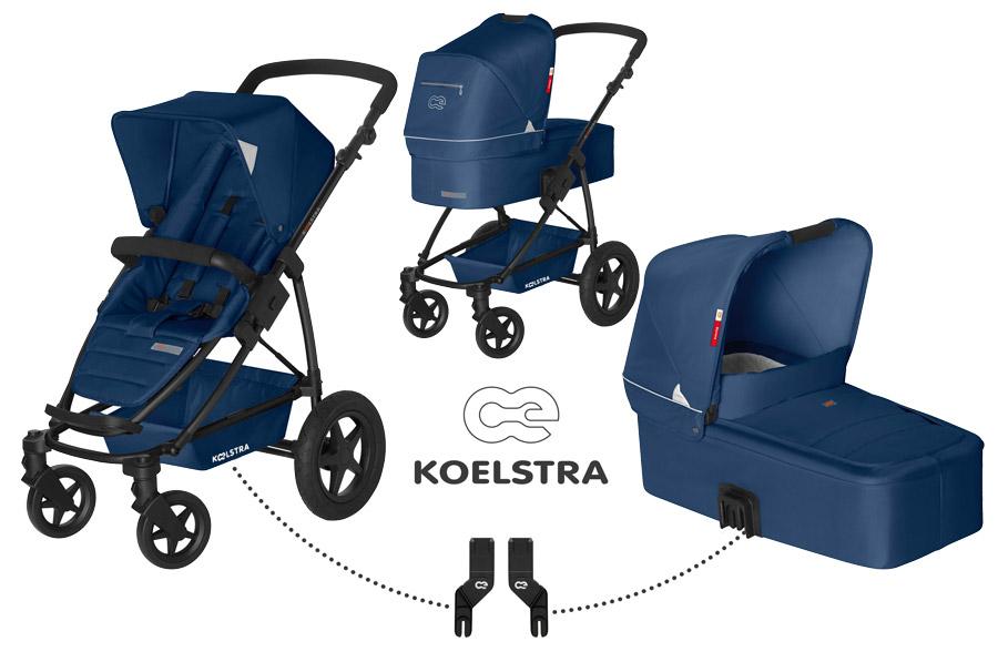 Kombinovaný kočárek Koelstra Binque Daily 2017 Marina Blue