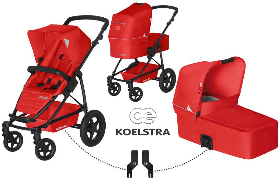 Kombinovaný kočárek Koelstra Binque Daily 2017 Red