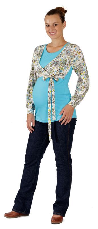 Těhotenské a kojicí tričko Rialto Dames kašmír vzor 0185