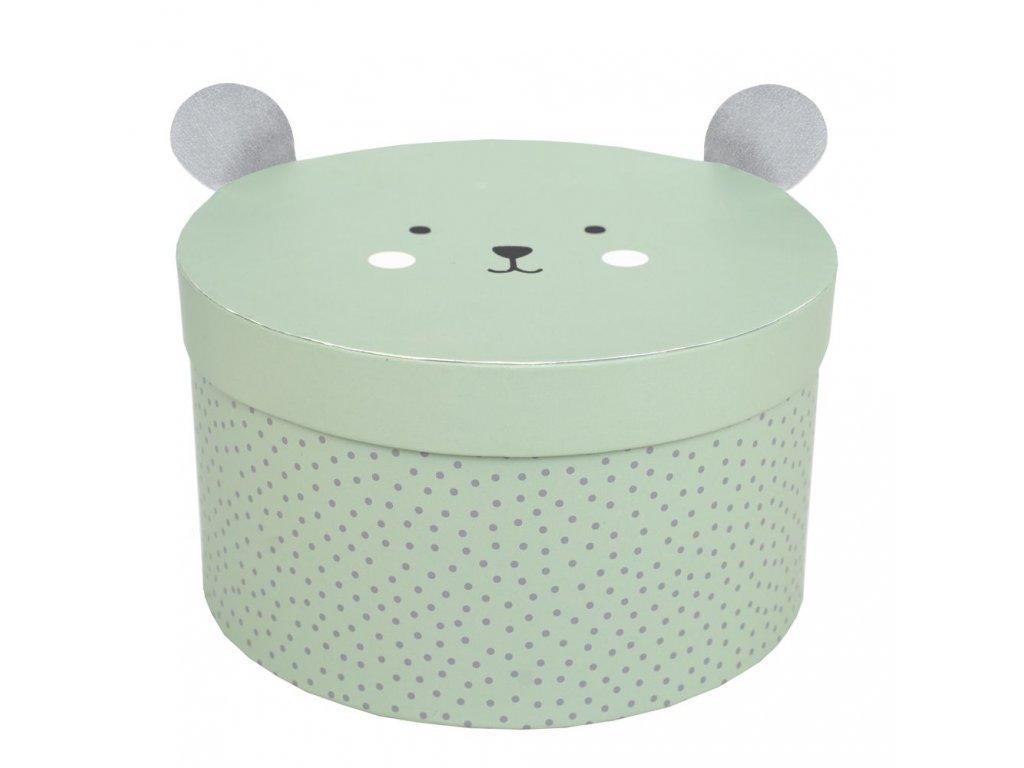 a3215 storage box round green small