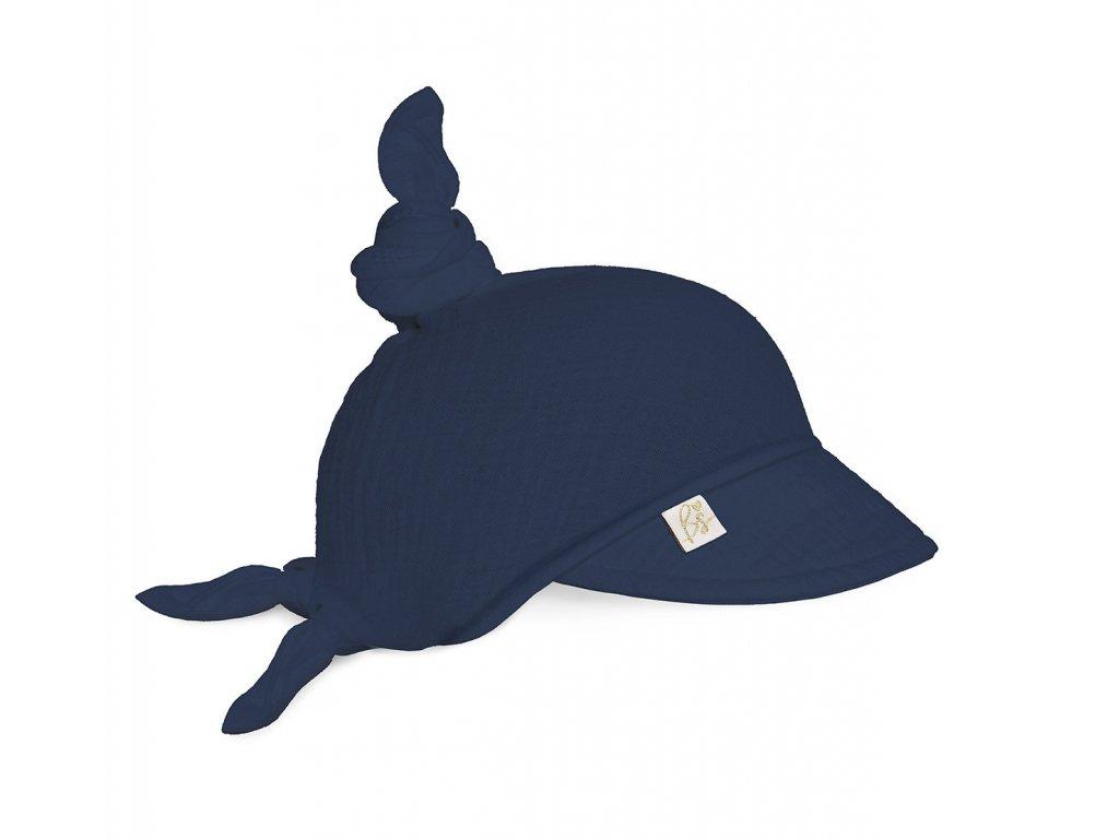 muslinowa chusteczka na glowe navy