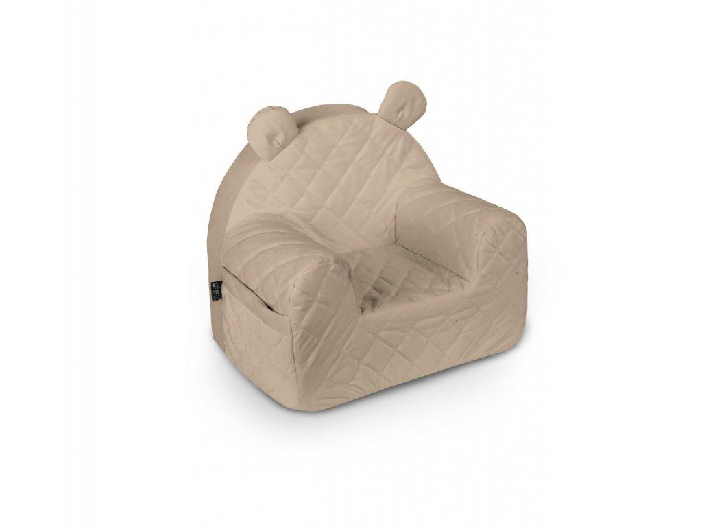 fotelik velvet beige