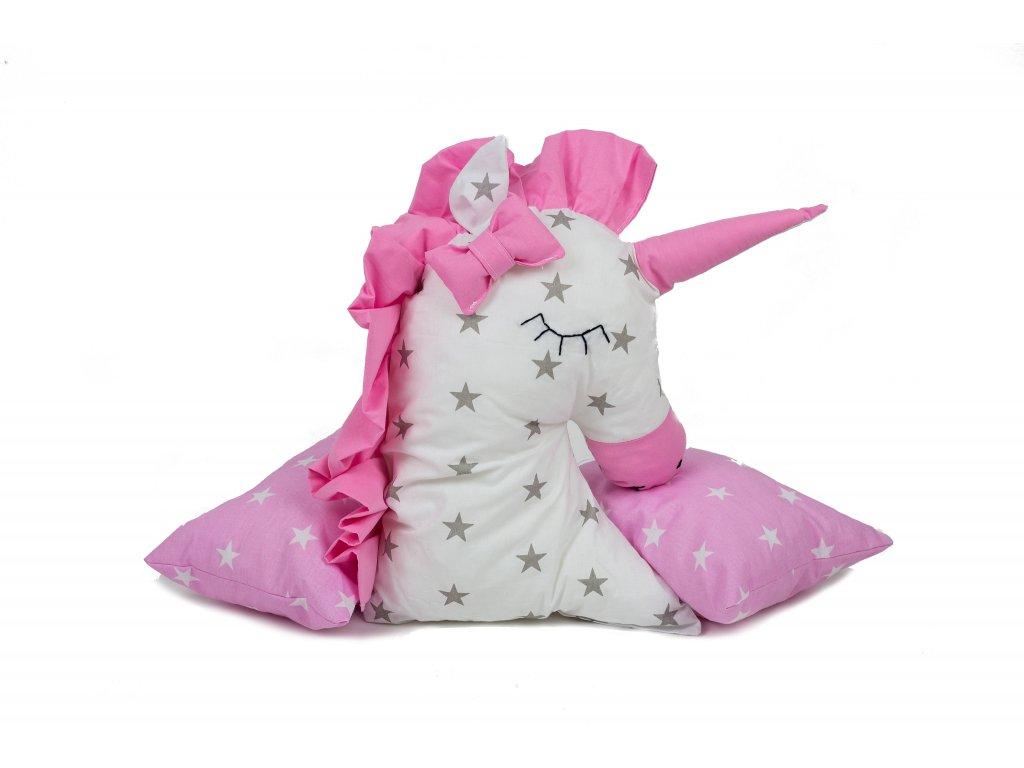 BabyTýpka Polštářek jednorožec - Stars white